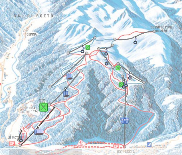 san_colombano_ski_map